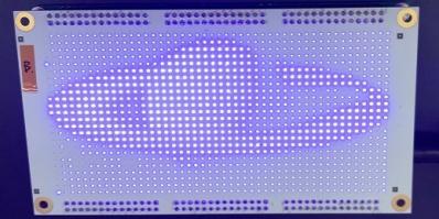 展示サンプル0.38×0.2mmチップマトリックス配置