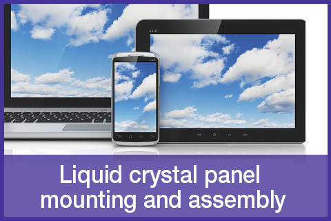 Liquid crystal panel mounting and assembly